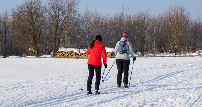 Abnehmen im Winter über Langlauf Ski